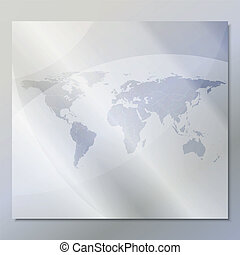 transparent world map vector background