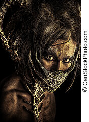extraterrestrial - Frightening mythical creature male Alien...