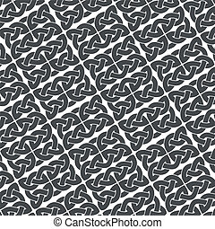Ornate background vector - Ornate gray background, eltic...
