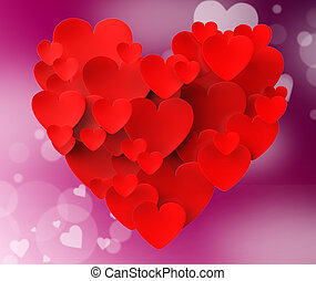 Heart Made With Hearts Means Romanticism Valentines And Love...