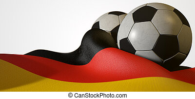 German Flag And Soccer Ball - A regular stitched panel...