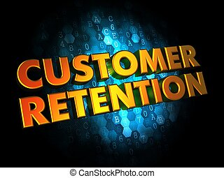 Customer Retention - Gold 3D Words - Customer Retention -...