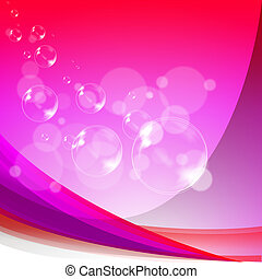 Bubbles Background Means Soapy Sparkles And Joyfulness -...