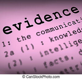 Evidence Definition Meaning Crime Scene Investigation And...