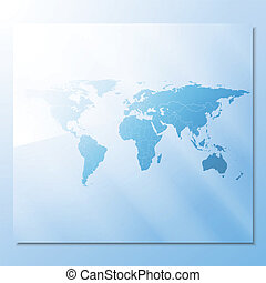 transparent world map abstract background vector