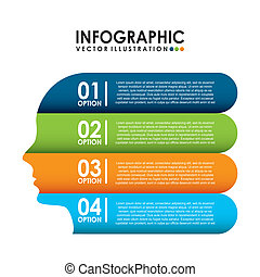 Infographic design over white background, vector...