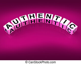 Authentic Blocks Show Certified and Verified Authenticity -...