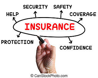 Insurance Diagram Shows Protection Coverage And Security -...