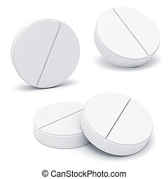 3d medicine pill on white background