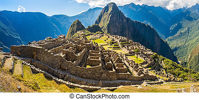 Mysterious city - Machu Picchu,Peru - Mysterious city -...