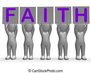 Faith Banners Shows Belief And Religion