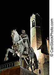 Statue of Count Ramon Berenguer IV on Placa Ramon Berenguer...