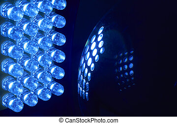 LED - An array of 24 LEDs light up a glass ball.