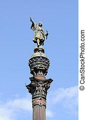 Monument of Christopher Columbus at end of La Rambla,...