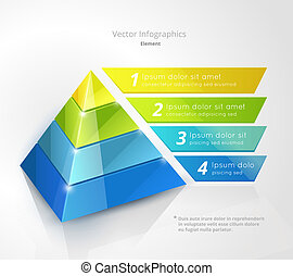 pyramid infographic design template, vector eps10...