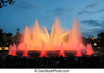 Font Magica - Magic Fountain in Barcelona Spain