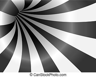 Abstract striped background - Abstract vector black and...