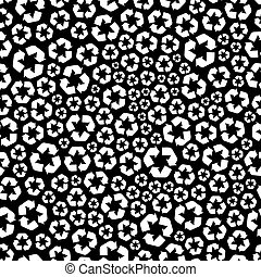 Recycle Seamless pattern - Recycle Seamless abstract...