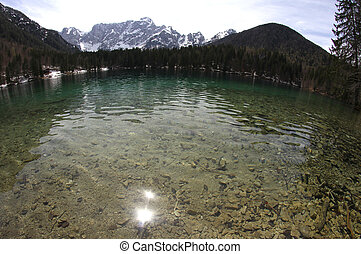 water of the Lake with the Alps 2 - Clear water of the Lake...