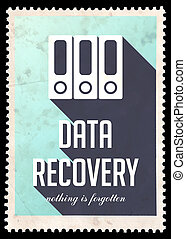 Data Recovery on Blue in Flat Design. - Data Recovery on...