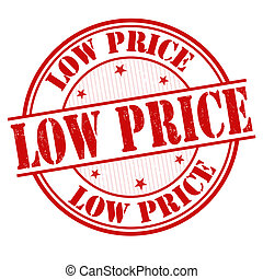 Low price stamp - Low price grunge rubber stamp on white,...