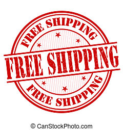 Free shipping stamp - Free shipping grunge rubber stamp on...