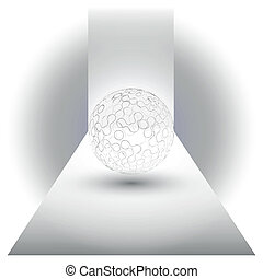 transparent sphere background vector