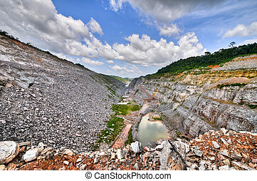 Open Pit Gold Mine, Africa - Open Pit Gold Mine in Ghana,...