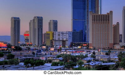 Stratosphere Sunrise Panning - High definition sunrise shot...