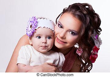 conceived, hija, madre, meses, Algo,  6, bebé