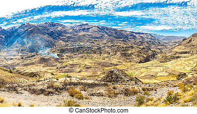 Colca Canyon, Peru,South America Incas to build Farming...