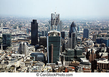 Financial City of London - Aerial cityscape of the financial...
