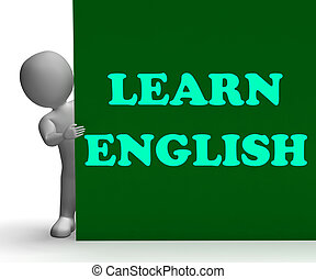 Learn English Sign Shows Foreign Language Teaching - Learn...