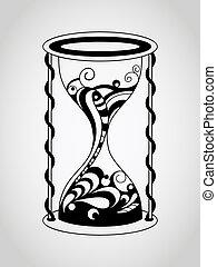 Vector Tattoo Hourglass