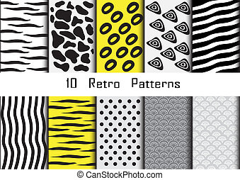 Collection for patterns animal skin