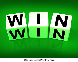 Win Blocks Indicate Success Triumphant and Winning - Win...