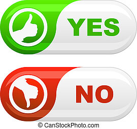 Yes and No icon set for design