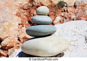 zen-like rocks - Balanced rocks in a zen-like arrangement