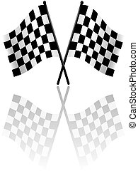 Checkered Flags 2 - colored illustration