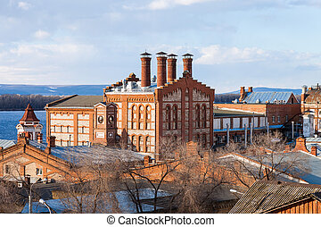View on Zhiguli Brewery in Samara, Russia Was founded in...