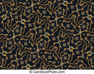 Luxury Geometric Motif Background - Refined and luxury...