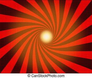 Sunrays loop background