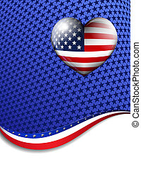 America Stars Stripes Background - American Stars and...