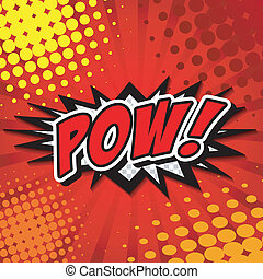 Pow - Comic Speech Bubble, Cartoon - Comic Speech Bubble,...