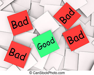 Good Bad Post-It Notes Mean Acceptable Or Unacceptable -...