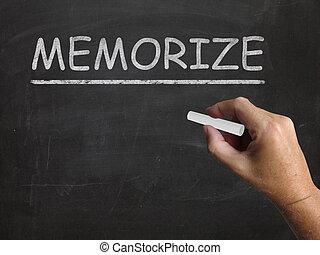 Memorize Blackboard Shows Learn Information By Heart -...