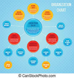Organizational chart infographic business flowchart work...