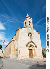 Church in France - Church in Villes sur Auzon France