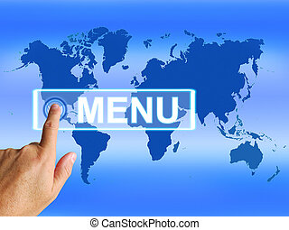 Menu Map Refers to International Choosing and Options - Menu...