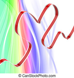 Ribbon Heart Means Passionate Relationship Or Loving...